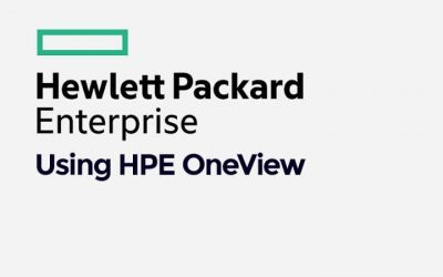Using HPE OneView (01128323)