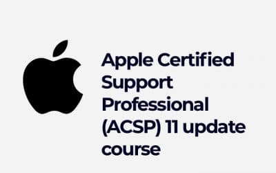 Apple Certified Support Professional (ACSP) 11 update course
